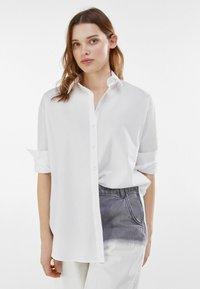 Bershka - Button-down blouse - stone - 0