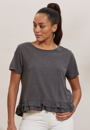 SALLY - Print T-shirt - asphalt
