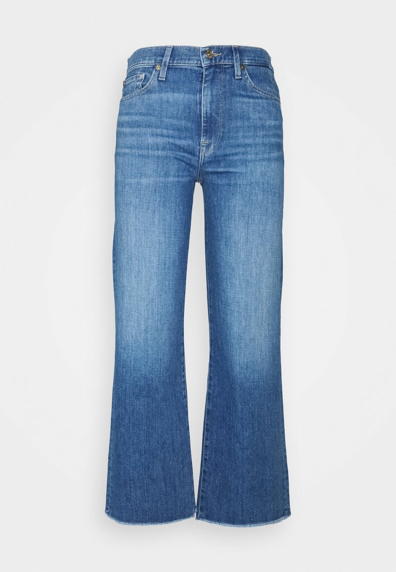 7 for all mankind - CROPPED ALEXA - Džíny Straight Fit - mid blue