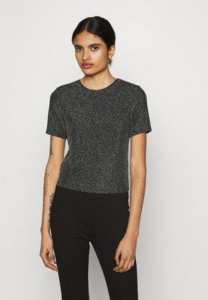 BERTA - Print T-shirt - grau/silber
