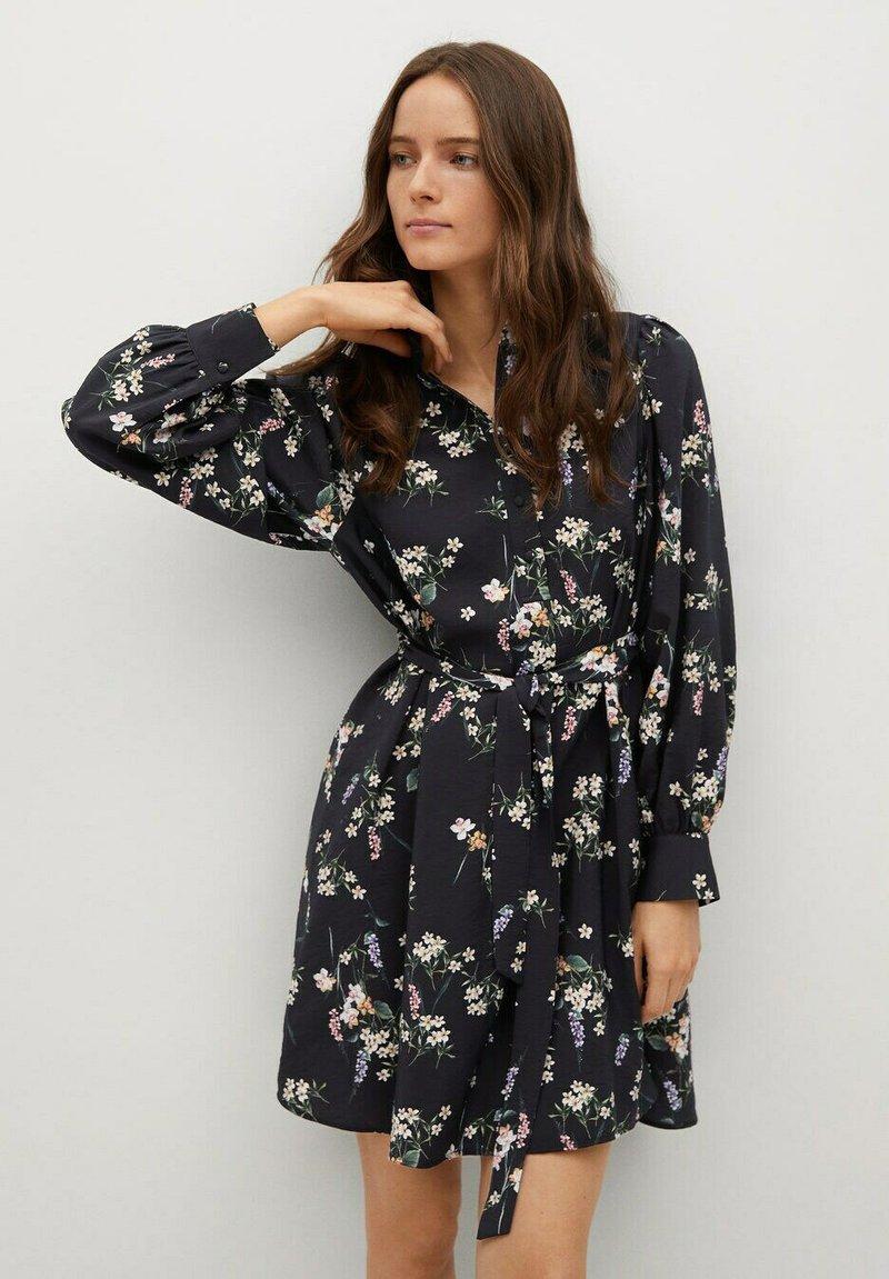 Mango - NOELA - Shirt dress - black