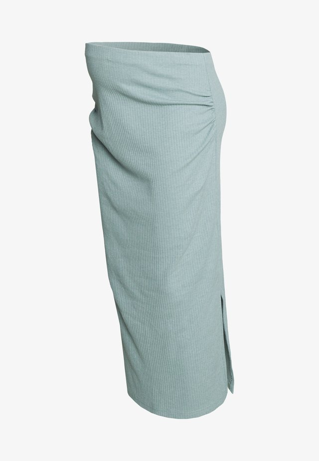 SPLIT SIDE MIDI SKIRT - Kynähame - seafoam green