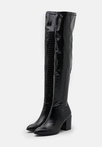 Steve Madden - JACEY - Kozačky nad kolena - black - 2