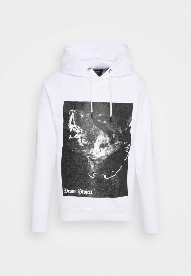 DOG HOODIE - Sweatshirts - white