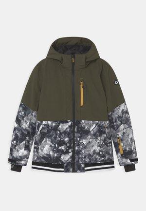 Snowboard jacket - dunkeloliv