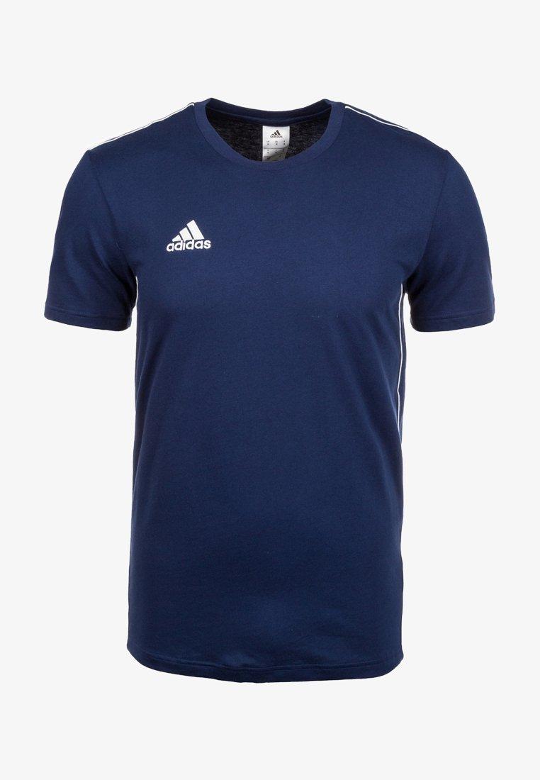 adidas Performance - CORE 18 ELEVEN - T-shirt z nadrukiem - dark blue