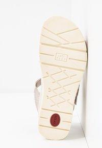Jana - Platform sandals - pepper/light gold - 6