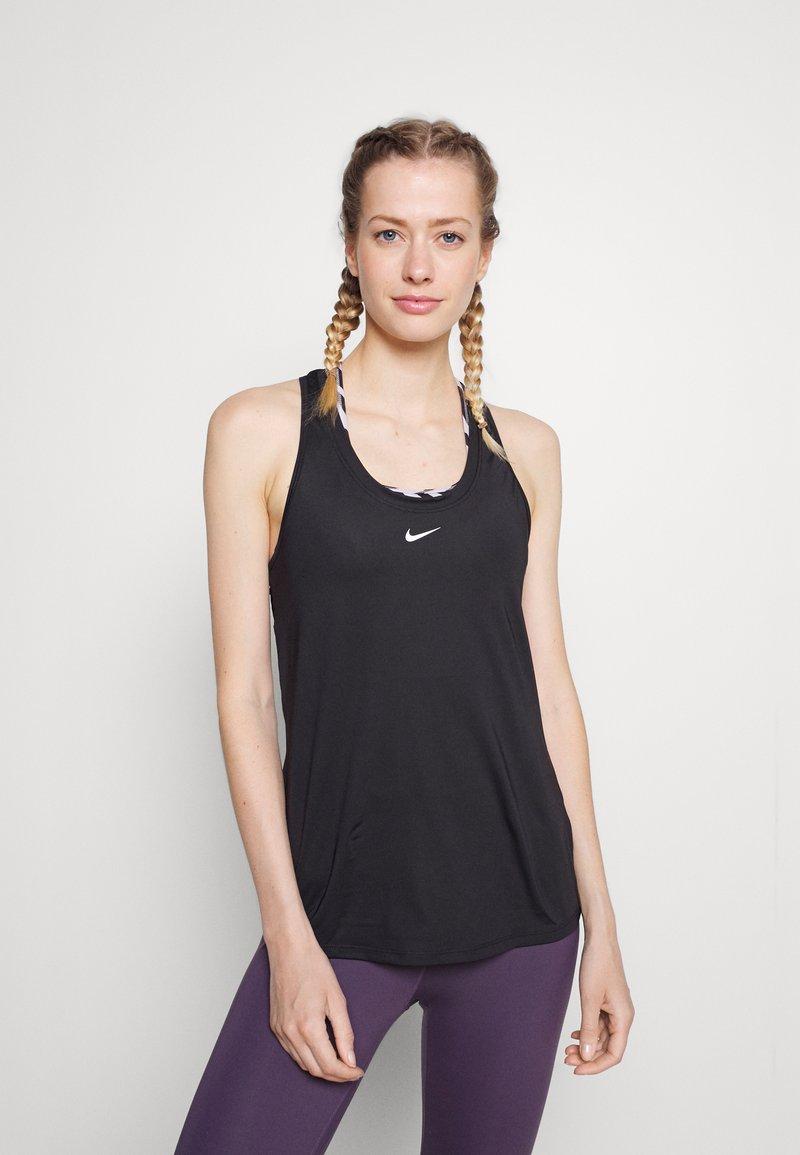 Nike Performance - ONE SLIM TANK - Toppi - black/white