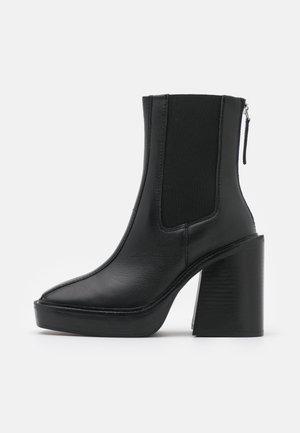 HONG KONG CASUAL PLATFORM - Platform ankle boots - black