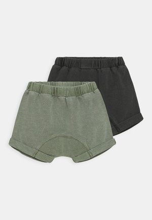 SHELBY 2 PACK UNISEX - Shorts - black/silver sage