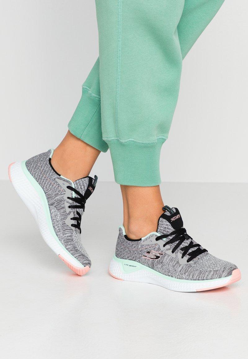 Skechers Sport - SOLAR FUSE - Trainers - gray/black/pink/mint