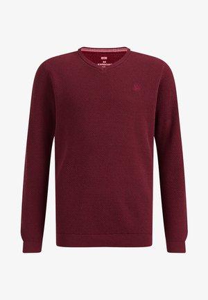 MET STRUCTUUR - Jumper - burgundy red