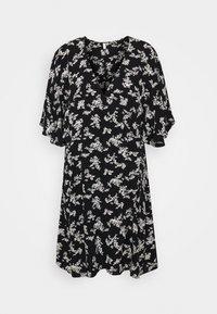 CUTE WRAP KIMONO DRESS - Day dress - black