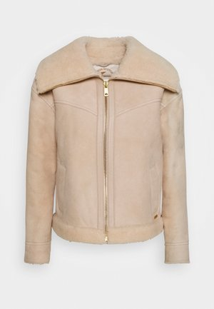 Leather jacket - icy white
