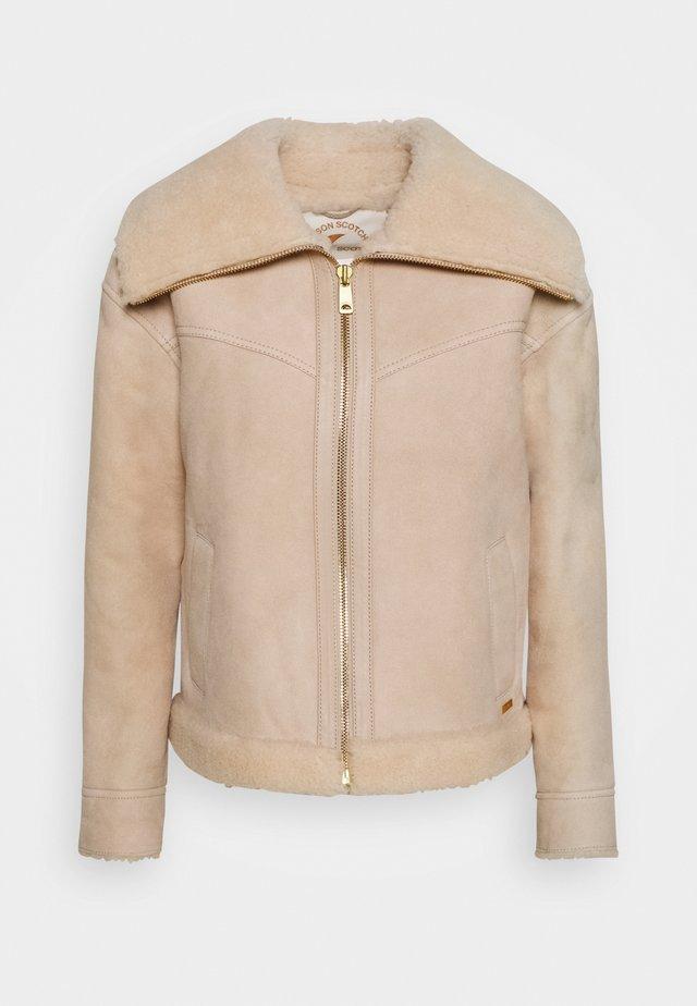 Leather jacket - icy white