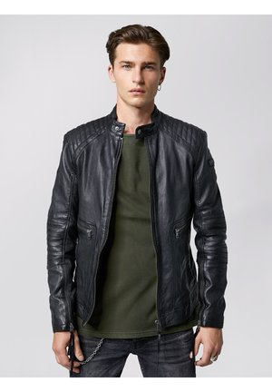 FREDERIK - Leather jacket - black