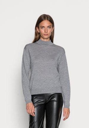WOOL KNIT JUMPER - Sweter - mottled grey