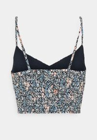 Abercrombie & Fitch - SLIM CROP CINCHED MIDI SET - Topper - navy floral - 1