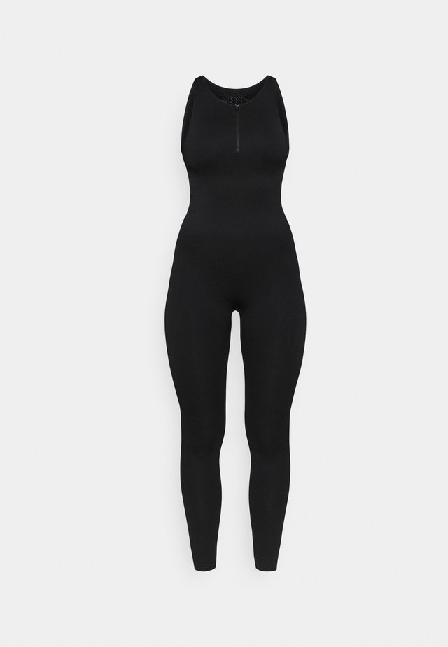 ZIP UP LONG BODYSUIT - heldräkt - black