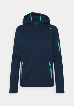 WOMAN FIX HOOD JACKET - Fleecová bunda - blue pool