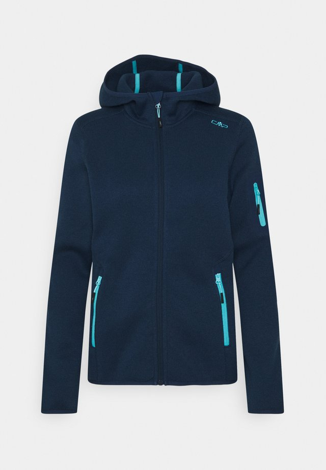 WOMAN FIX HOOD JACKET - Fleece jacket - blue pool