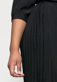 Vero Moda Curve - VMCARA CALF SHIRT DRESS - Day dress - black - 4