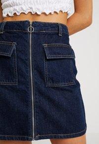 Miss Selfridge - ZIP THROUGH SKIRT - A-line skirt - blue denim - 5