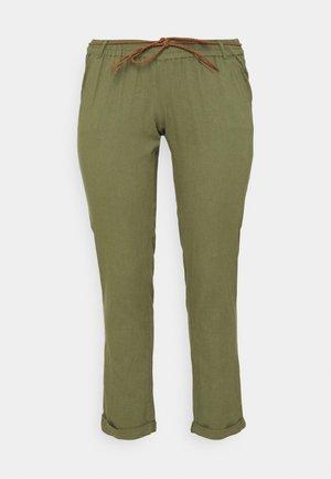 MLBEACH BELT WOVEN PANT - Pantalones - olivine