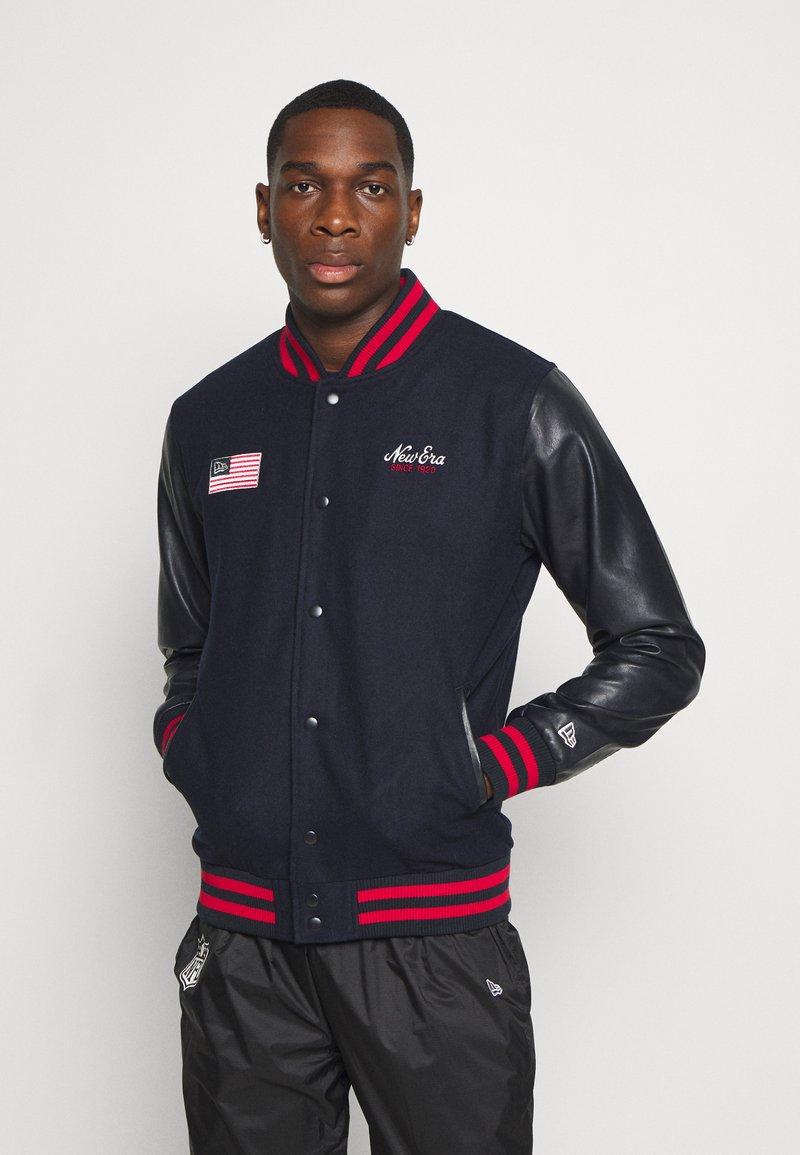 New Era - NEW ERAHERITAGE VARSITY - Sportovní bunda - black