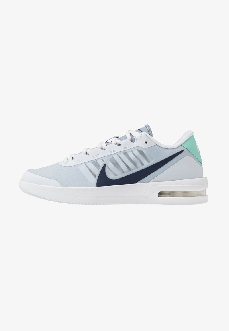 Nike Performance - COURT AIR MAX VAPOR WING - Multicourt tennis shoes - football grey/midnight navy