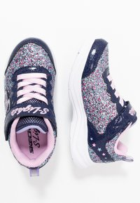 Skechers - GLIMMER KICKS - Trainers - navy/multicolor/rock glitter/lavender/light pink - 1