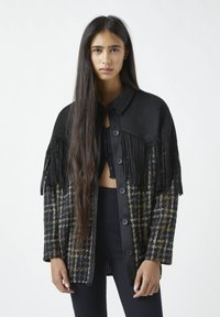 PULL&BEAR - Button-down blouse - mottled black - 0