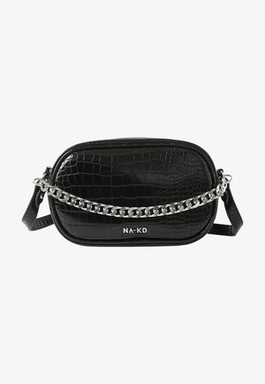 MIT KETTENDETAIL - Across body bag - black