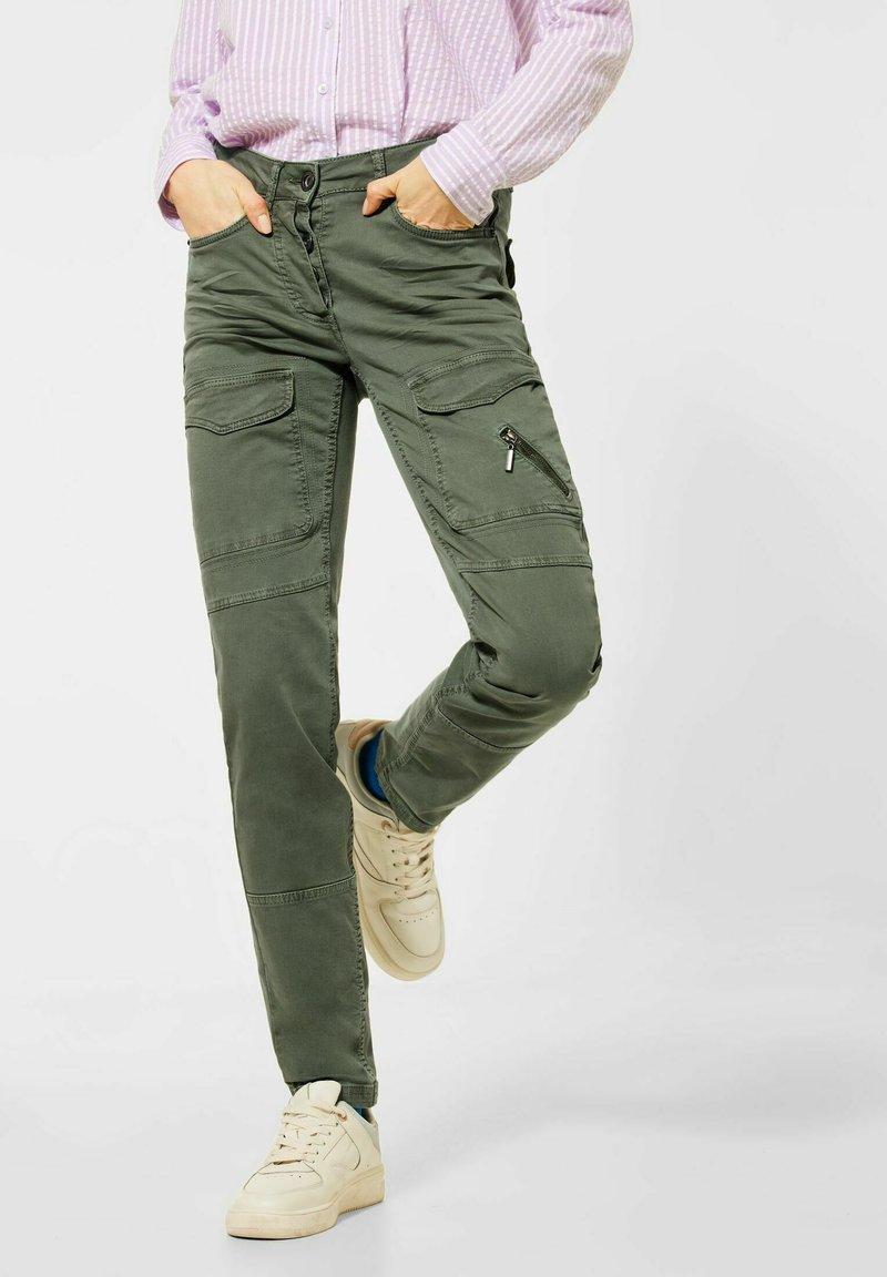 Cecil - MIT CARGO-TASCHEN - Cargo trousers - grün