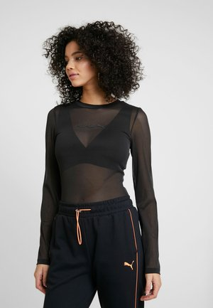EVIDE LONGSLEEVE - Long sleeved top - black