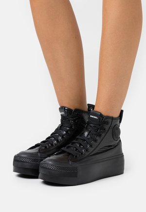 ASTICO S-ASTICO MC WEDGE SNEAKERS - High-top trainers - black