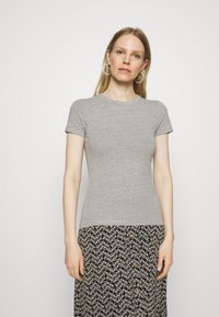 Anna Field - 2 PACK - T-shirts - light green/mottled grey - 3