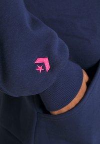 Converse - EMBROIDERED OVERSIZED HOODIE - Sweatshirt - midnight navy - 6