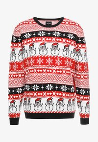 Only & Sons - ONSXMAS MARTIN ALL OVER - Strickpullover - pompeian red - 3
