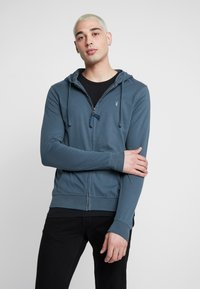 AllSaints - BRACE HOODY - Zip-up hoodie - pier blue - 0