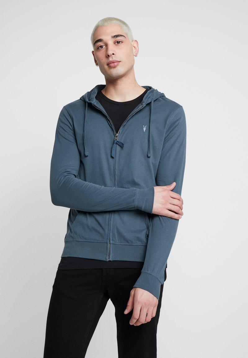 AllSaints - BRACE HOODY - Zip-up hoodie - pier blue