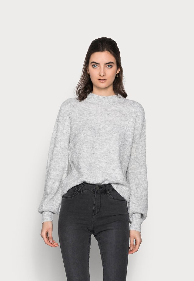 VMCARINA HIGHNECK BLOUSE - Pullover - light grey melange
