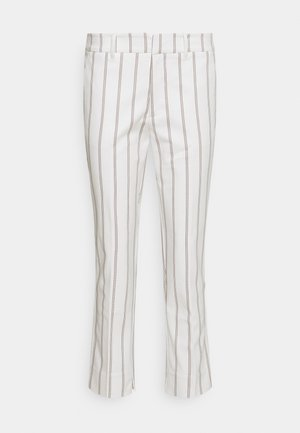 TROUSERS CHINO STRIPED - Trousers - offwhite