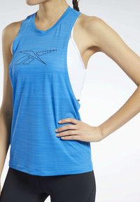 Reebok - WORKOUT READY ACTIVCHILL TANK TOP - Top - blue - 4