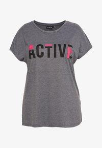 Active by Zizzi - ANELLA - Camiseta estampada - night sky melange - 3