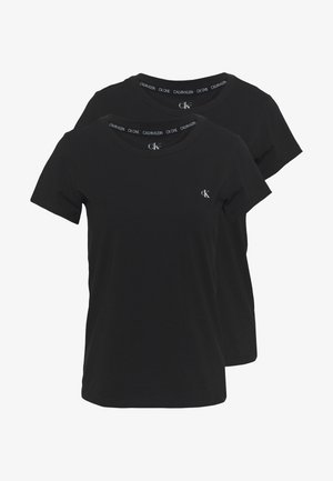 CK ONE CREW NECK 2 PACK - Pyjamashirt - black