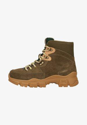 Platform ankle boots - burnt olive