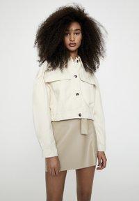 PULL&BEAR - Faux leather jacket - beige - 0