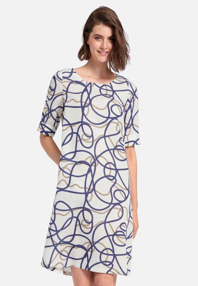 Korte jurk - weiß/multicolor