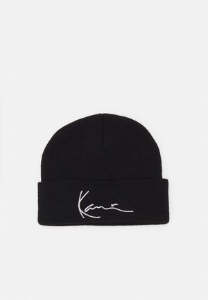 SIGNATURE FISHERMAN BEANIE UNISEX - Czapka - black
